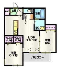 (仮称)十太夫メゾン2階Fの間取り画像