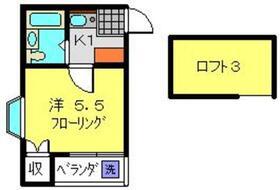 レオパレスクレスト横浜2階Fの間取り画像