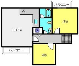 ライブスペースビラ893階Fの間取り画像