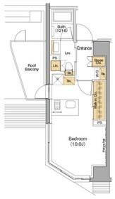 ザ・パークハビオ神楽坂香月6階Fの間取り画像