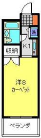 井土ヶ谷駅 徒歩1分7階Fの間取り画像