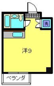 水野ビル4階Fの間取り画像
