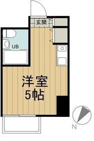 メゾンドノア聖蹟桜ヶ丘3階Fの間取り画像
