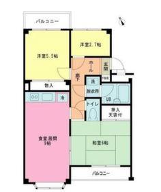 ヒルズ諏訪坂マンション2階Fの間取り画像