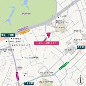パークコート赤坂 ザ タワー案内図