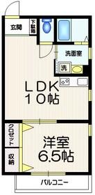 ツインピーク渋谷3階Fの間取り画像