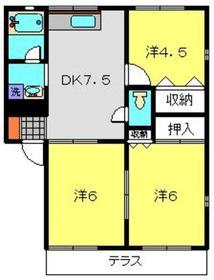 グリーンヒルA1階Fの間取り画像
