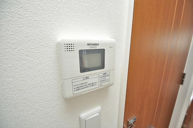 CASSIA高井田NorthCourt 給湯リモコン付。温度調整は指1本、いつでもお好みの温度です.