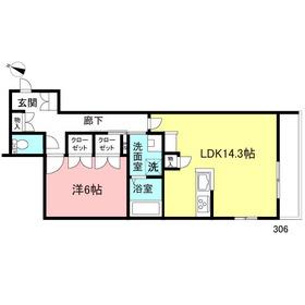 ルグラン駒沢3階Fの間取り画像
