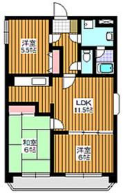 成増駅 徒歩22分6階Fの間取り画像