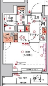 京急川崎駅 徒歩9分10階Fの間取り画像