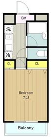 プリモ・アモーレ2階Fの間取り画像