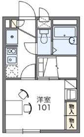 レオパレスみらいⅢ2階Fの間取り画像