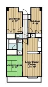リューデスハイム3階Fの間取り画像