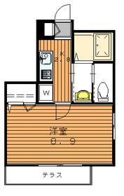 メゾン奈良1階Fの間取り画像