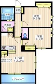 緑園メゾン2階Fの間取り画像