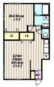 メゾンプルミエ1階Fの間取り画像