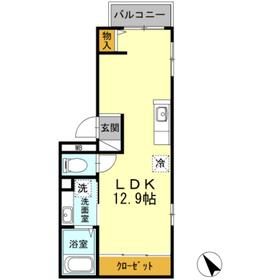 ヴィラージュ横濱2階Fの間取り画像
