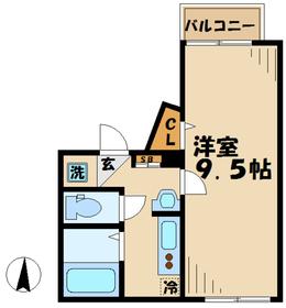 ミヌシモツキ2階Fの間取り画像