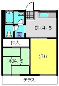 ハイム田中1階Fの間取り画像