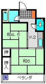 伊澤ビル2階Fの間取り画像