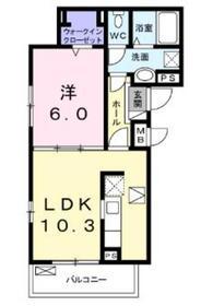 メゾンドボヌールK1階Fの間取り画像