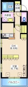 ローズマリナス由比ヶ浜1階Fの間取り画像