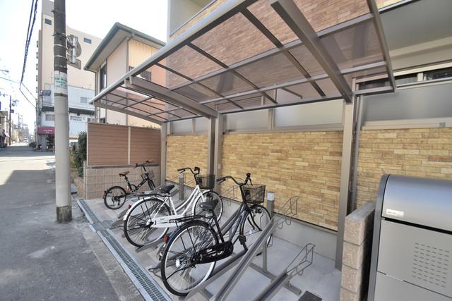 クリエオーレ巽中Ⅰ あなたの大事な自転車も安心してとめることができますね。