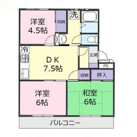 西羽沢パークハイツ3階Fの間取り画像