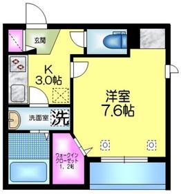 (仮称)浅草3丁目メゾン3階Fの間取り画像