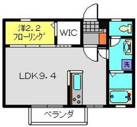 新川崎駅 徒歩9分2階Fの間取り画像