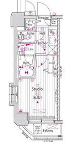 ガーラ・グランディ新丸子8階Fの間取り画像