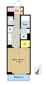 カシェット2階Fの間取り画像