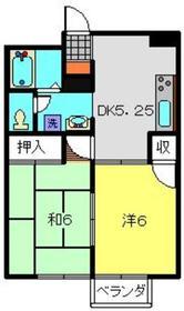 綱島エレガンス1階Fの間取り画像