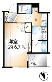 グラーサ銀座イースト5階Fの間取り画像