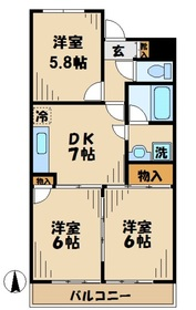 五月台駅 徒歩3分3階Fの間取り画像