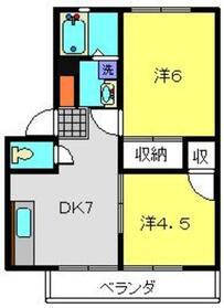 サンライフ・ビラージュA3階Fの間取り画像