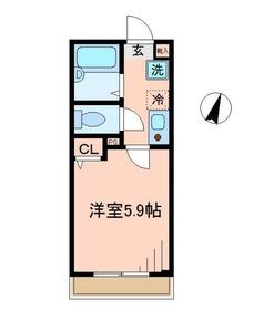 KAツルミ1階Fの間取り画像