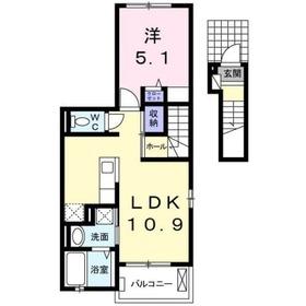 セッチソン・カシワ2階Fの間取り画像