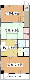 第2富士ビル3階Fの間取り画像