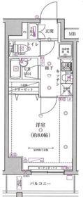 スパシエベルタ横浜7階Fの間取り画像