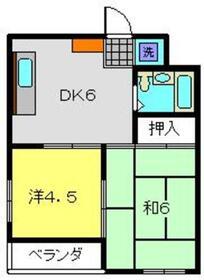 ナガトハイム2階Fの間取り画像