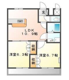 パルK&YⅡ1階Fの間取り画像