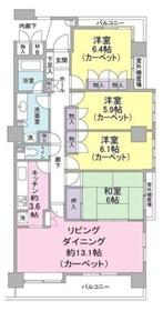 東急ドエル・ファナス長津田5階Fの間取り画像