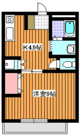 下赤塚駅 徒歩10分2階Fの間取り画像