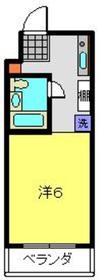 三ッ沢上町駅 徒歩1分2階Fの間取り画像