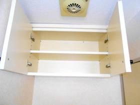 洗濯機置場上部の収納