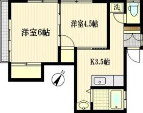 コーポミサト2階Fの間取り画像