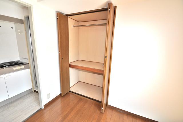 OKハイツ神路 もちろん収納スペースも確保。おかげでお部屋の中がスッキリ。