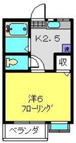 和田町駅 徒歩18分3階Fの間取り画像